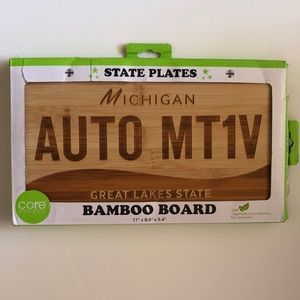 Michigan Bamboo Cheese Plate/ Board